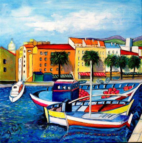 Ajaccio le port peinture paoli for Agessa ou maison des artistes