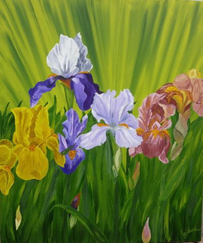Jardin d 39 iris peinture liliane bichard for Aubade jardin d iris