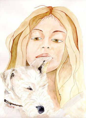 L'artiste chantalthomasroge - Fillette et son Fox