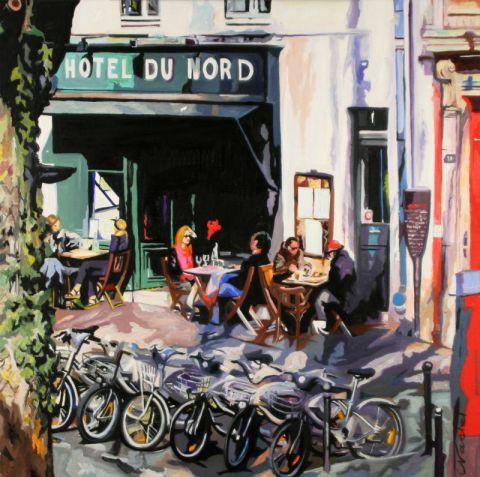 Hotel du nord peinture clotilde nadel for Decor hotel du nord