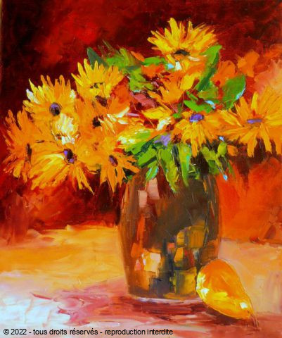 Veronique LANCIEN - BOUQUET DE RUDBECKIAS