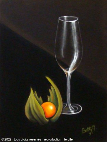 L'artiste BETTY-M peintre - verre etphysalis