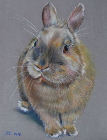 Canel le lapin peinture valerie jouffroy ricotta - Patte de lapin peinture ...