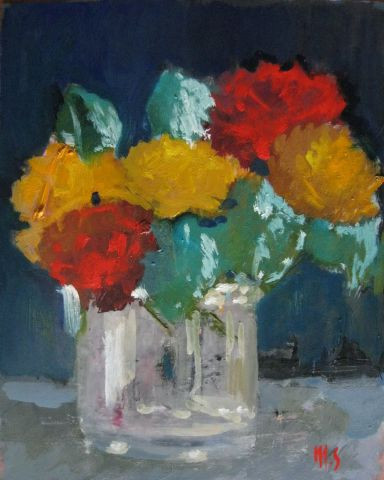 MONIQUE SHAW - Abstraction d'un bouquet
