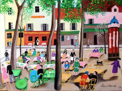 claude  Mr Bret - place du tertre animee