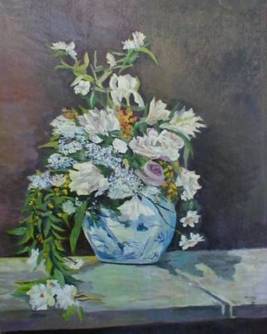 maly veronique - bouquet blanc