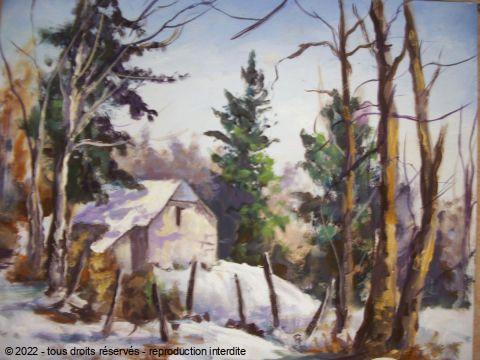 Grange Vallee Argeles Peinture Lallemand Yves