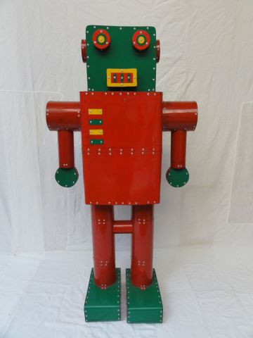 Cyrille Plate - Robot rouge