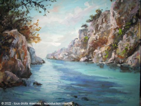 LALLEMAND YVES - CALANQUE