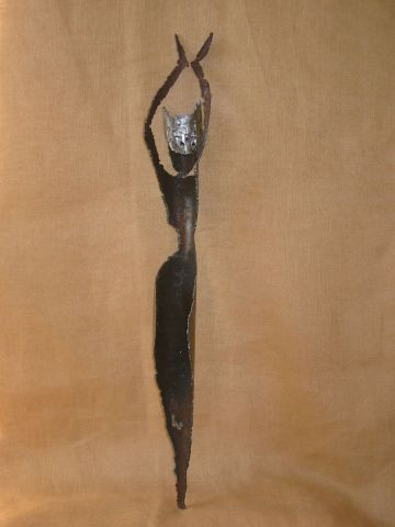 catherine vaganay metal sculpture - Muse I/5