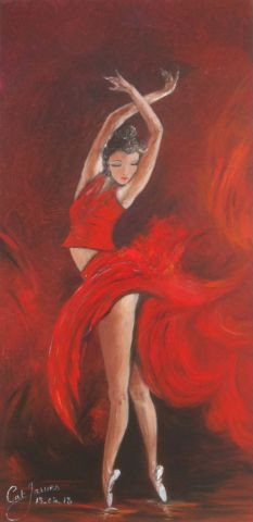 Catherine James - la danseuse rouge