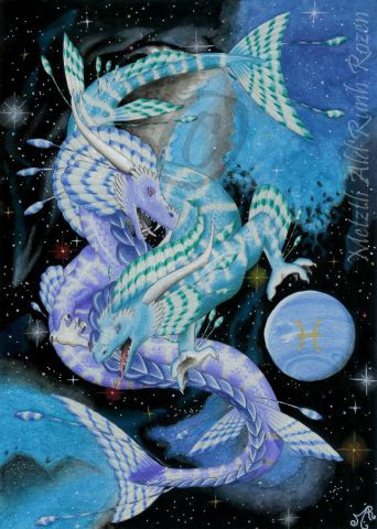 Metztli - Zodiacal Dragon - Pisces