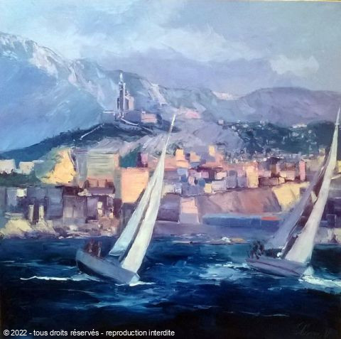 L'artiste Veronique LANCIEN - RADE DE MARSEILLE