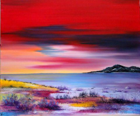 Peinture paysage peinture a l 39 huile sur toile peinture cv creations - Paysage peinture facile ...