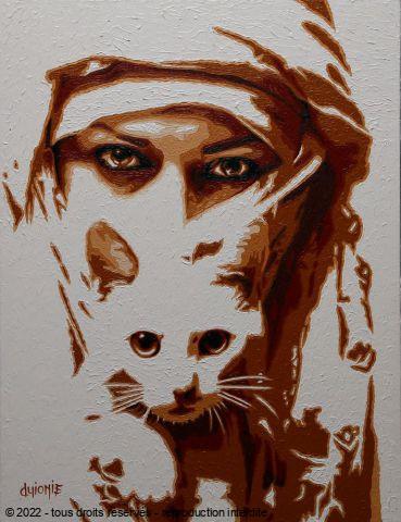 Regards persans peinture guionie jean - Tableau de chat moderne ...