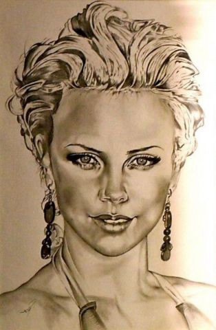 L'artiste Ferge charly - Charlize theron