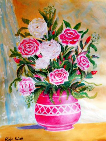 riahi noureddine - vase rose
