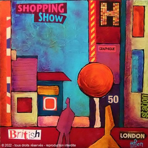 L'artiste Marie-Pierre JAN - Shopping in london