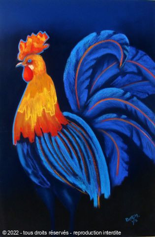 L'artiste BETTY-M peintre - coq au rico