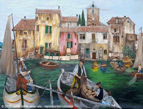 Gerard Grallie - Le port de Martigues