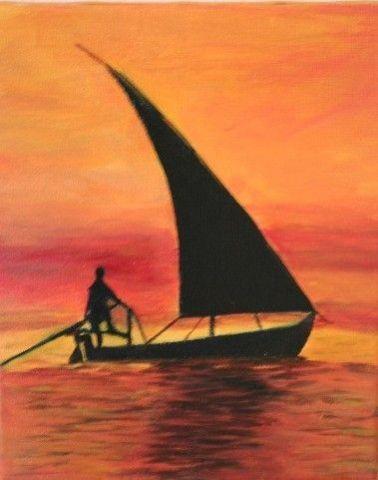 Coucher de soleil en mer indienne peinture monet - Coucher de soleil en mer ...