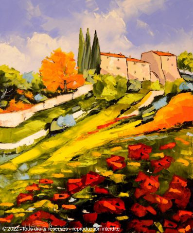 JIEL - colors of PROVENCE WITH POPPIES