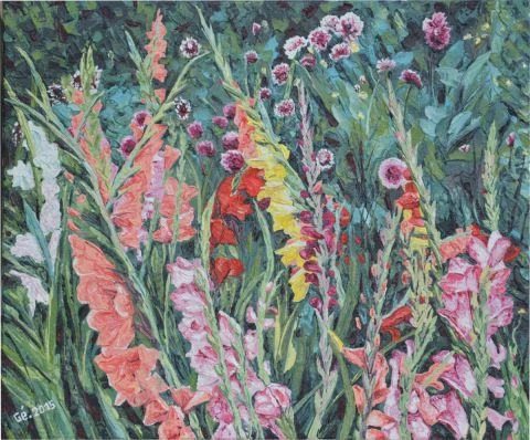 Le jardin aux fleurs peinture gerard servais for Jardin aux fleurs