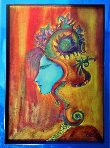 La douceur visage du futur huile sur toile peinture chara - Peinture sur visage ...