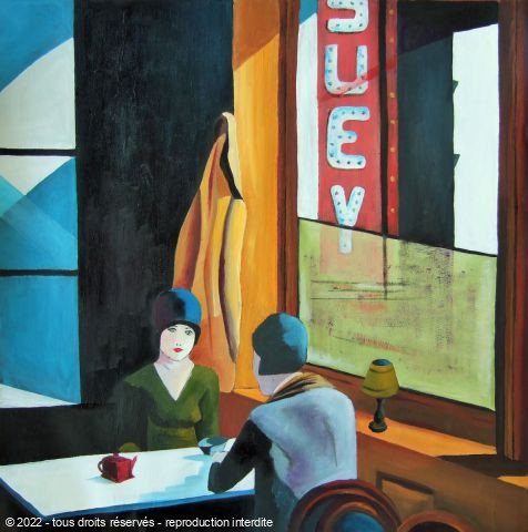 L'artiste Marie-Pierre JAN - Inspiration HOPPER