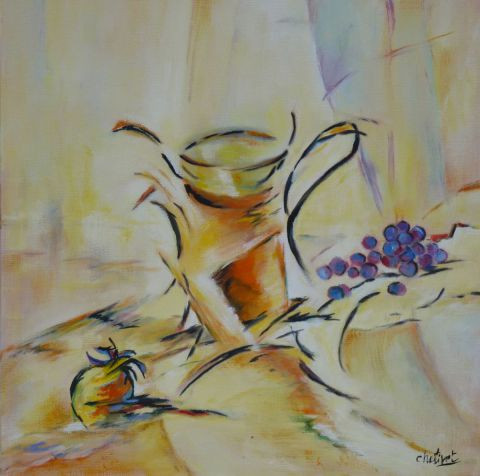 L'artiste janine chetivet - pot orange