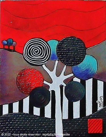 L'artiste Marie-Pierre JAN - L'arbre POP 1 24X19