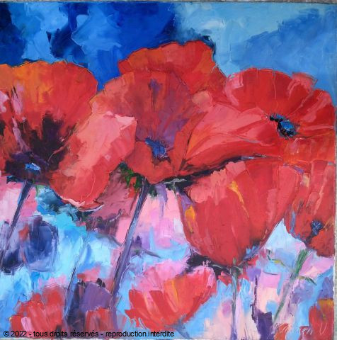 L'artiste Veronique LANCIEN - COQUELICOTS