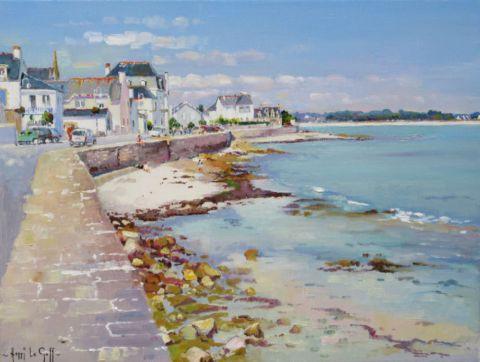 Étonnant Bord de mer à l'Ile Tudy (Finistère, Bretagne, France) - Peinture RZ-04