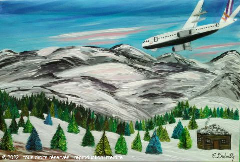L'artiste Catherine Dutailly - A 320 de Germanwings...