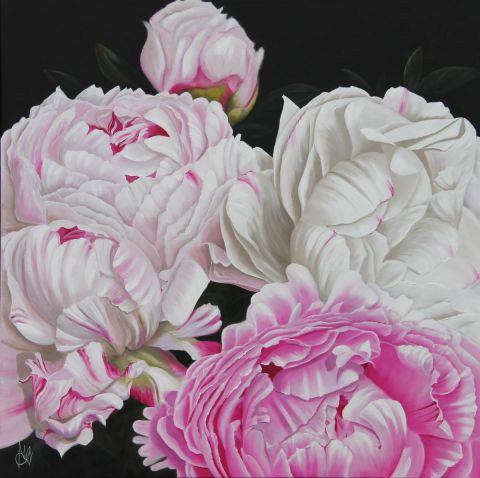 Chantal Rousselet - Bouquet de pivoine