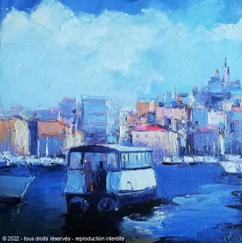 L'artiste Veronique LANCIEN - PETIT FERRY BOAT MARSEILLE