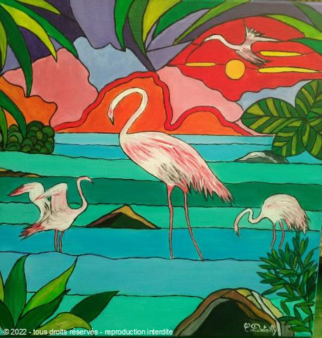 Catherine Dutailly - Les flamants roses