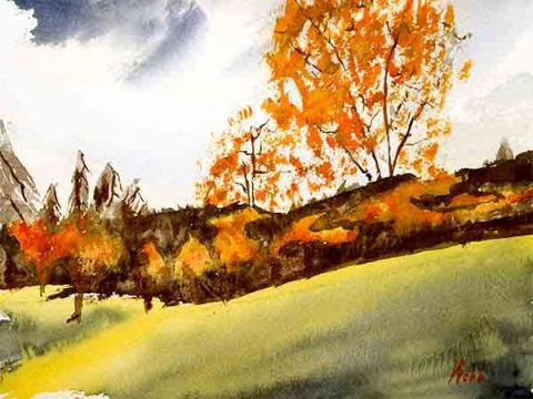 Denis Webb - Les feuilles tombent-Falling Leaves