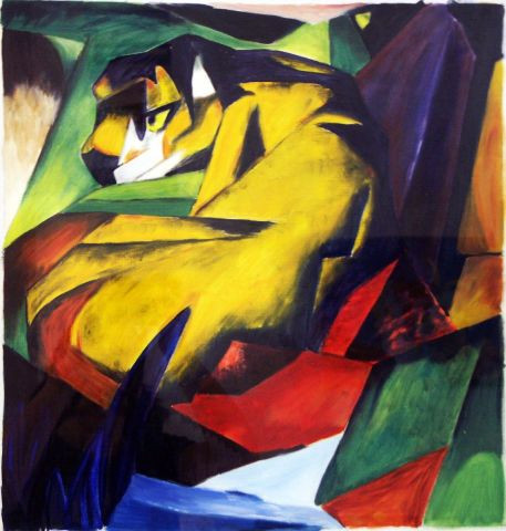 Veronique Rond Frenot - Inspiration Franz Marc 2