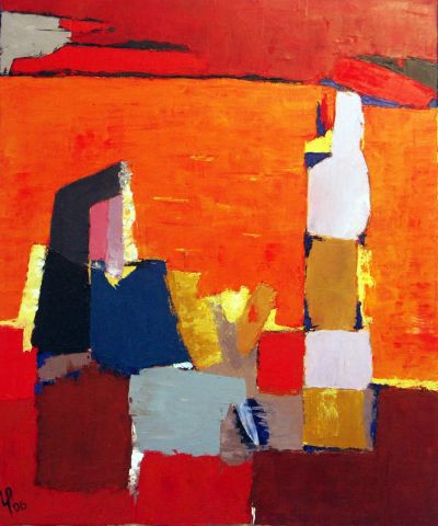 Veronique Rond Frenot - Inspiration Nicolas De Stael