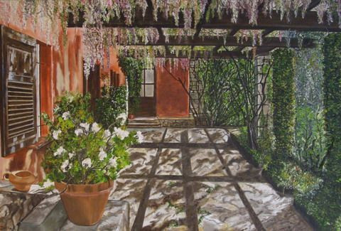 Corinne Bettan - Le Patio aux glycines
