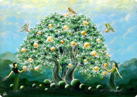 Le jardin d 39 den peinture catherine lesecq for Les decos d eden