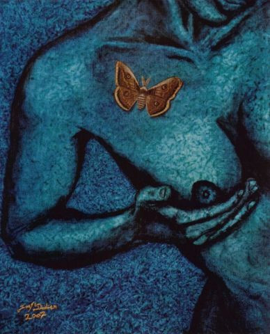 JOEL DIDIER - NIGHT BUTTERFLY AND BLUE LADY