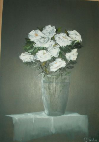 Anne  Tourliere - Roses blanches