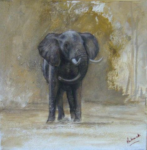 ANTONIOTTI severine - Elephant surpris