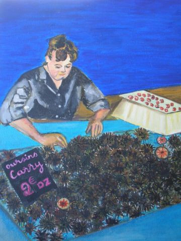 La marchande d 39 oursin peinture ma chabanne for Ma galerie marchande