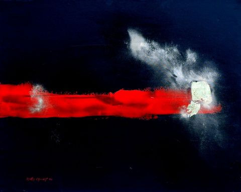 martine sangy caillet - Eclat rouge et or