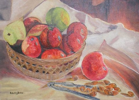 Edith Bleu - Corbeille de Fruits