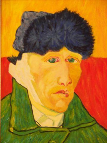 Portrait de van gogh a l 39 oreille coupee peinture erq - L oreille coupee van gogh ...