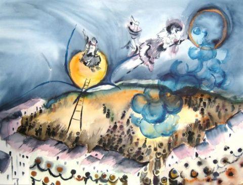 Reve De Cirque Peinture Eliette Graf